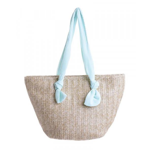Ψάθινη Τσάντα Θαλάσσης Ble 5-42-151-0094