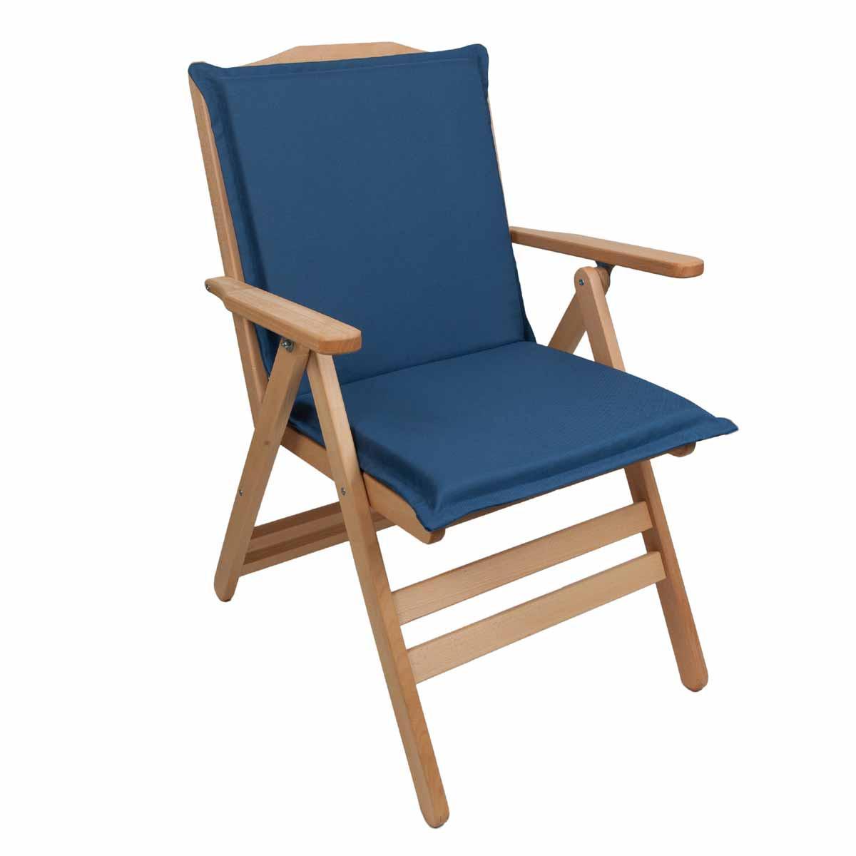 Μαξιλάρι Καρέκλας Με Πλάτη 92cm Be Comfy Blue 202