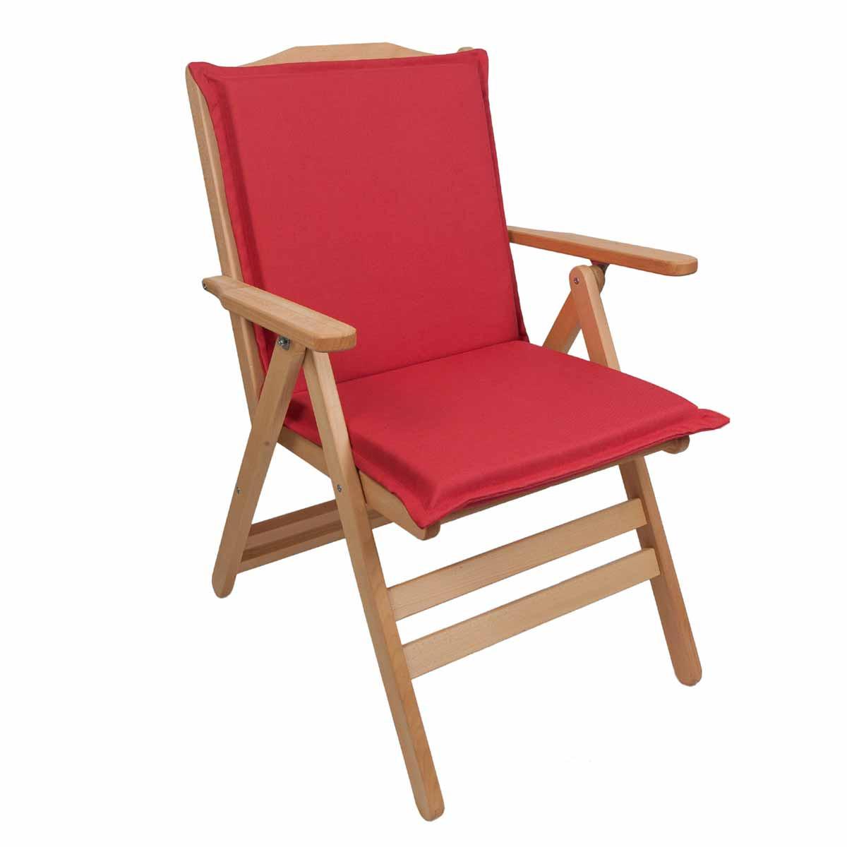 Μαξιλάρι Καρέκλας Με Πλάτη 92cm Be Comfy Red 203