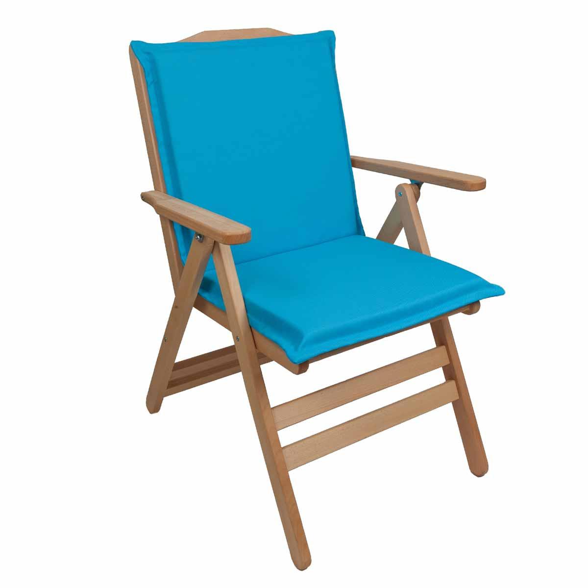Μαξιλάρι Καρέκλας Με Πλάτη 92cm Be Comfy Turquoise 205