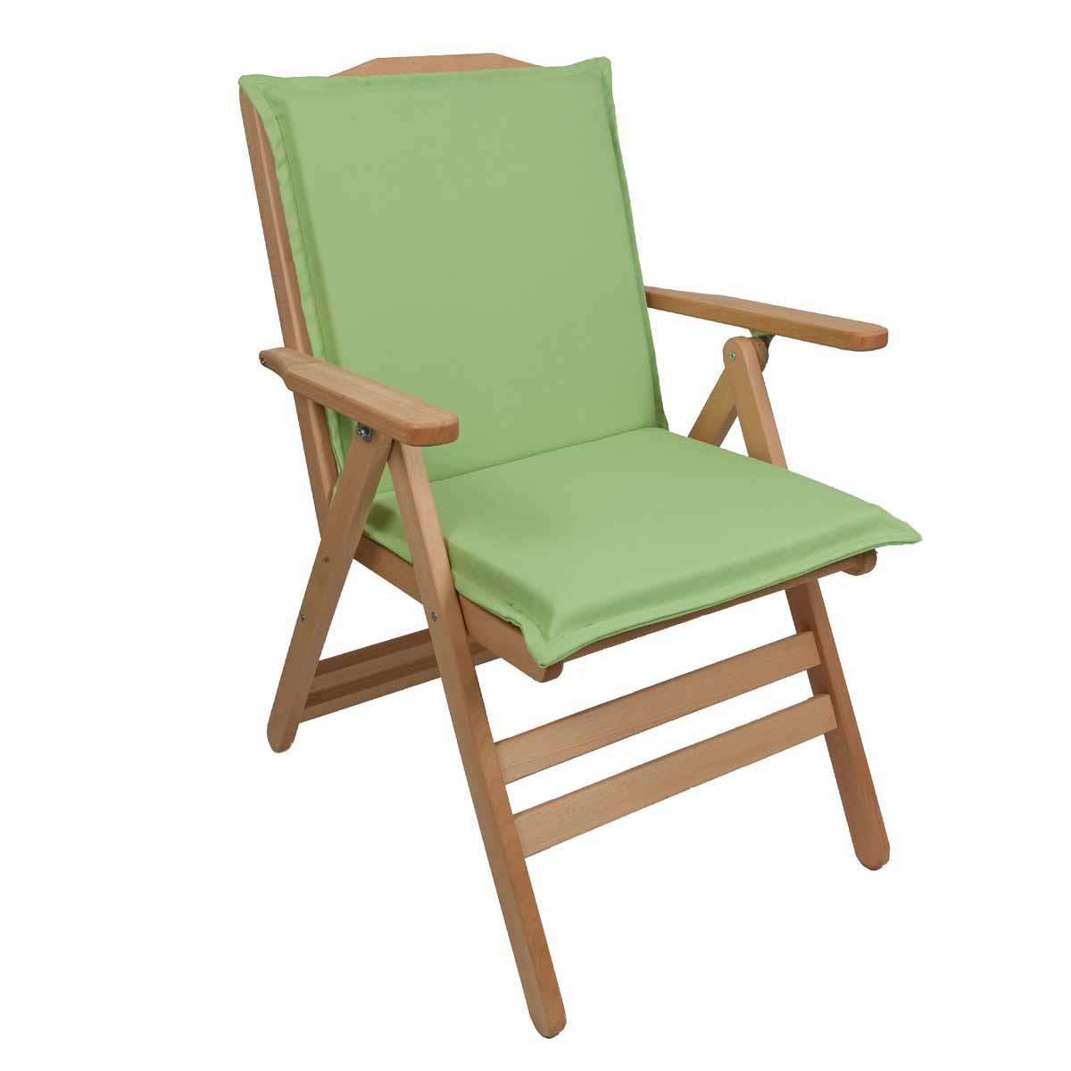 Μαξιλάρι Καρέκλας Με Πλάτη 92cm Be Comfy Green 206
