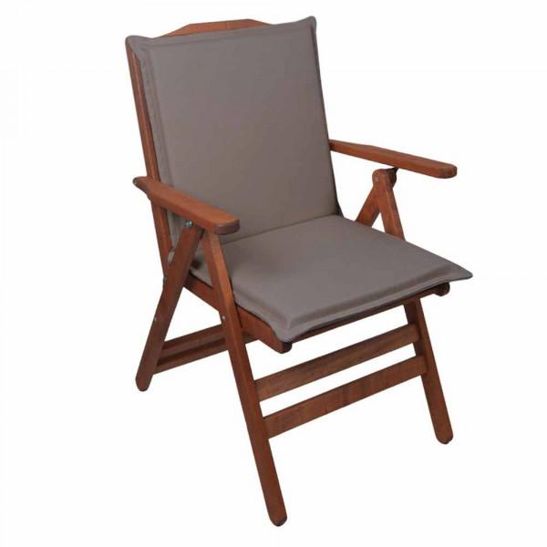 Μαξιλάρι Καρέκλας Με Πλάτη 50cm Be Comfy Grey 209