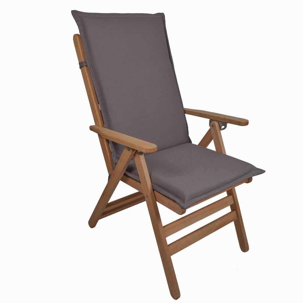 Μαξιλάρι Καρέκλας Με Πλάτη 112cm Be Comfy Grey 909