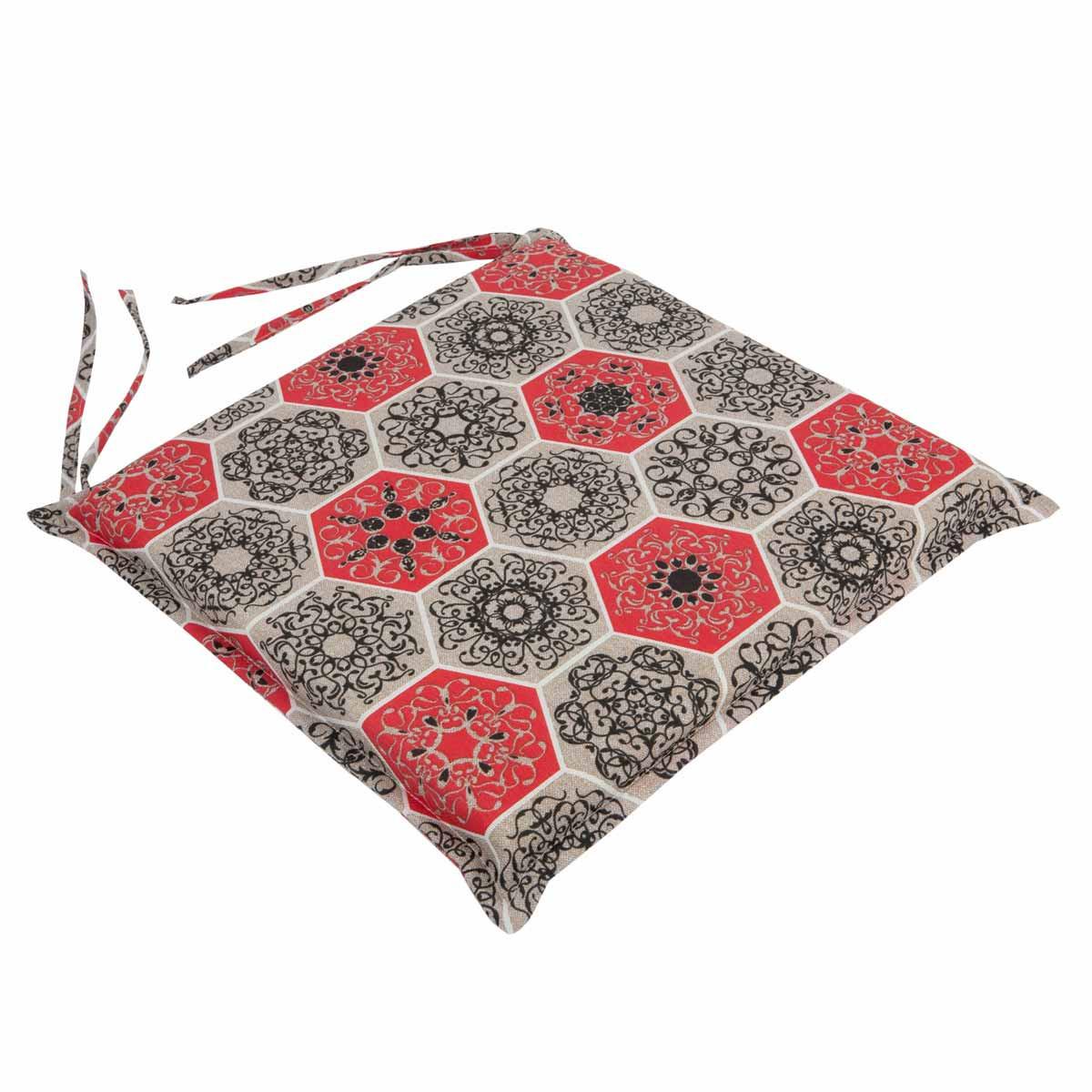 Μαξιλάρι Καρέκλας Με Φερμουάρ Be Comfy Hive Red 017