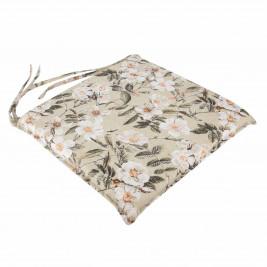 Μαξιλάρι Καρέκλας Με Φερμουάρ Be Comfy Blossom Olive 024