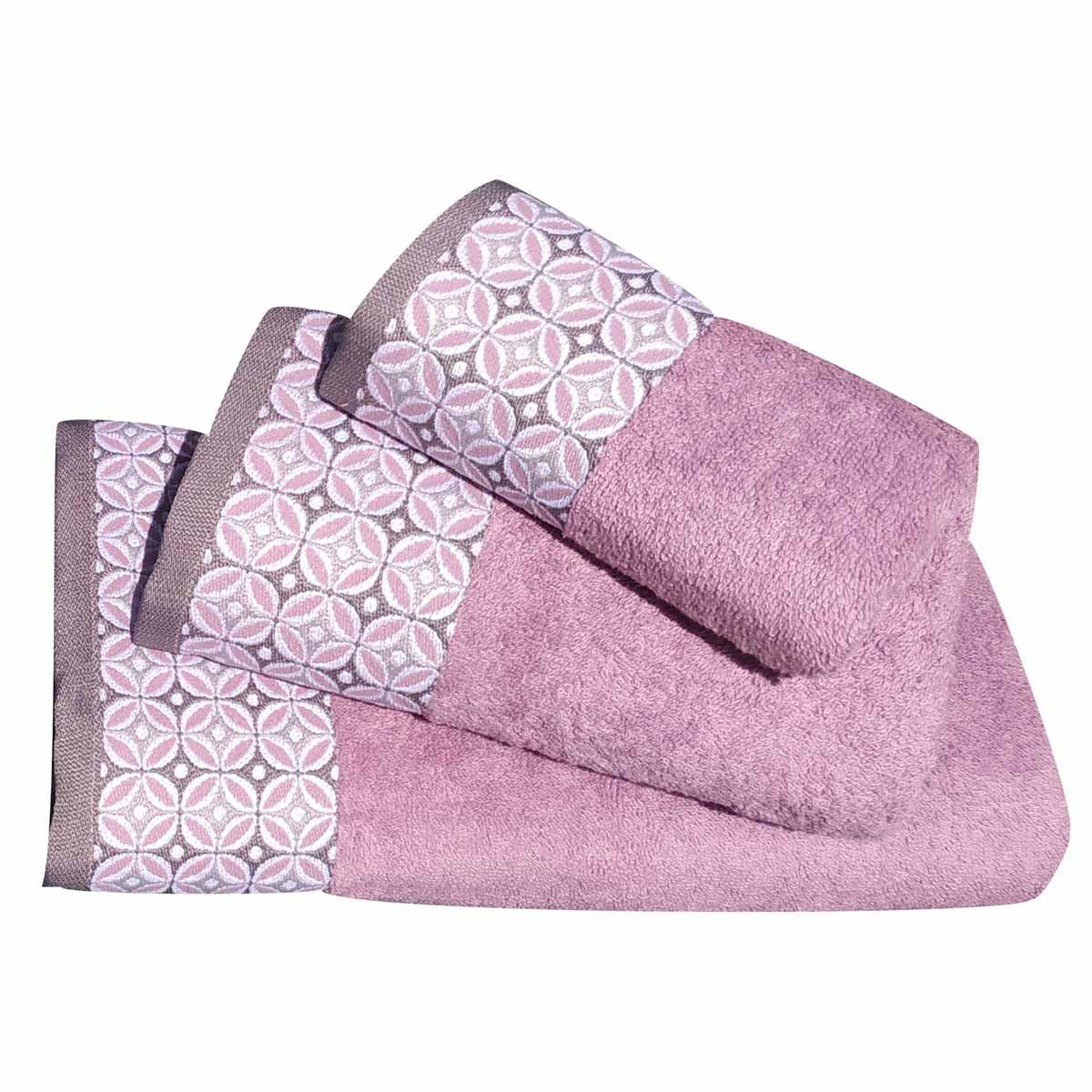 Πετσέτες Μπάνιου (Σετ 3τμχ) Morven 1907 Purple