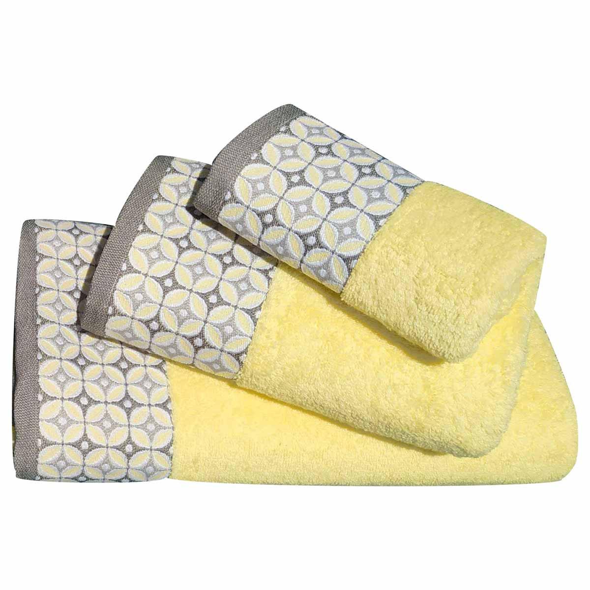 Πετσέτες Μπάνιου (Σετ 3τμχ) Morven 1907 Yellow