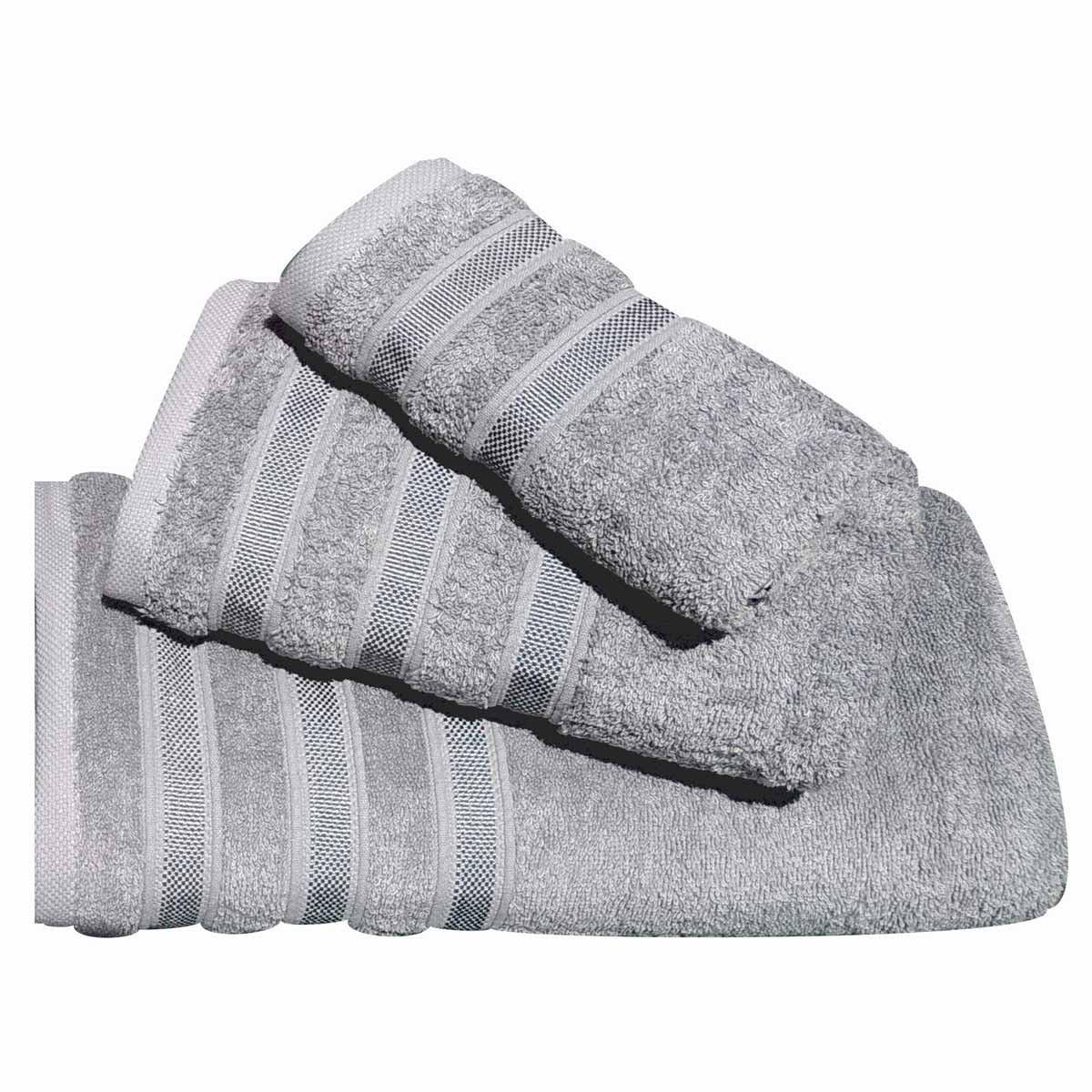 Πετσέτες Μπάνιου (Σετ 3τμχ) Morven 1908 Grey