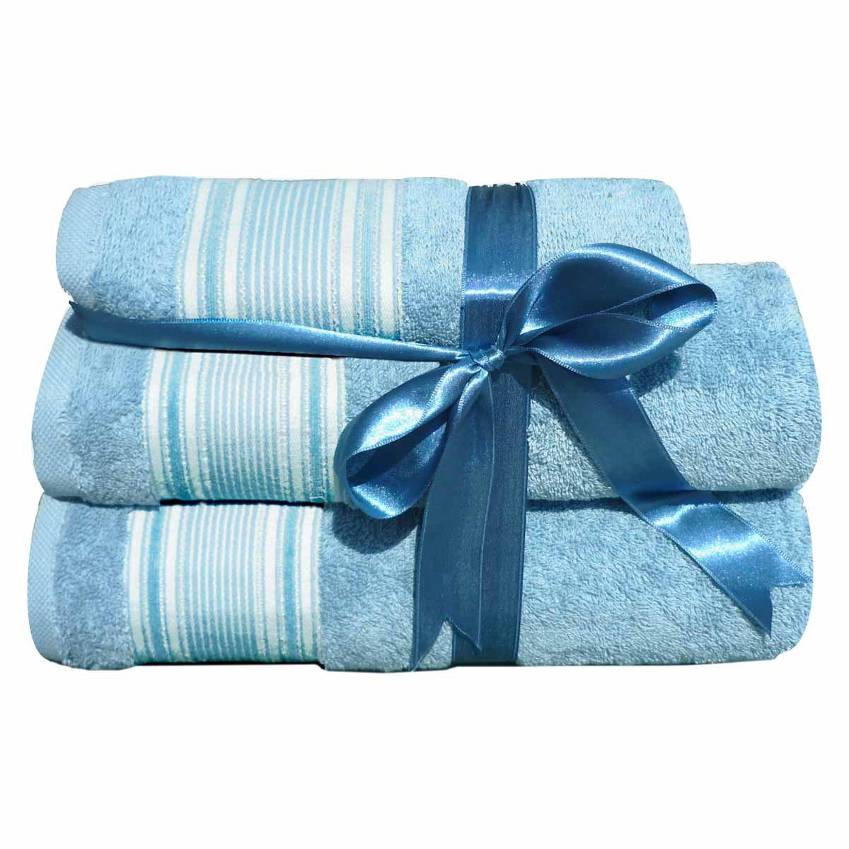 Πετσέτες Μπάνιου (Σετ 3τμχ) Morven 1909 Blue