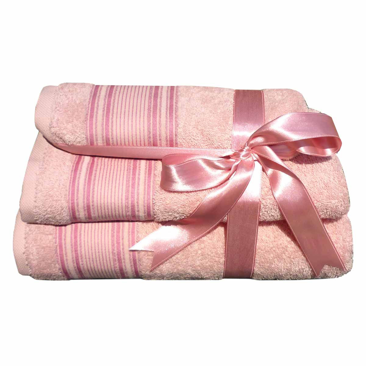 Πετσέτες Μπάνιου (Σετ 3τμχ) Morven 1909 Pink