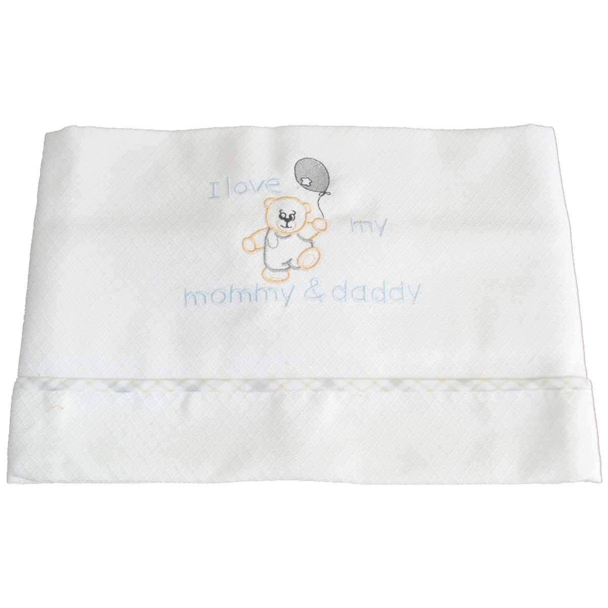 Κουβέρτα Πικέ Κούνιας Κόσμος Του Μωρού 0303 Love Γκρι-Μπεζ