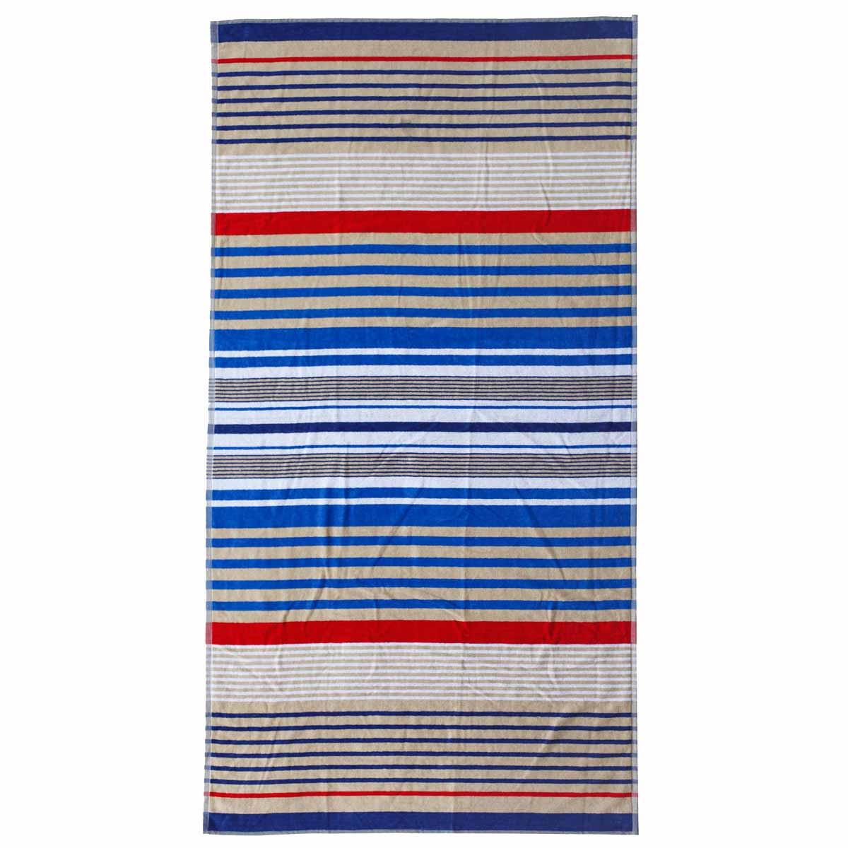 Πετσέτα Θαλάσσης Melinen Stripes Blue/Red