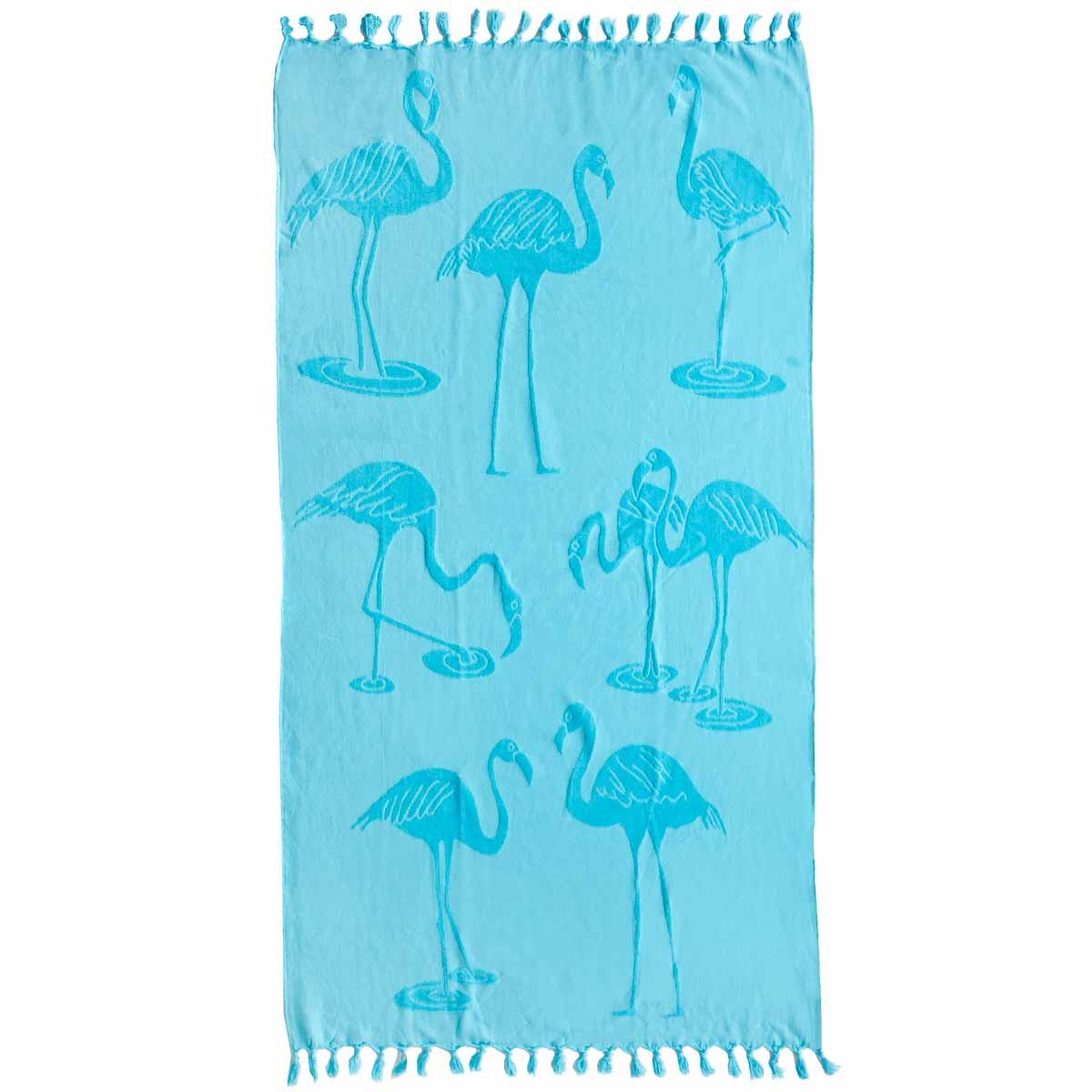 Πετσέτα Θαλάσσης Melinen Flamingo Aqua
