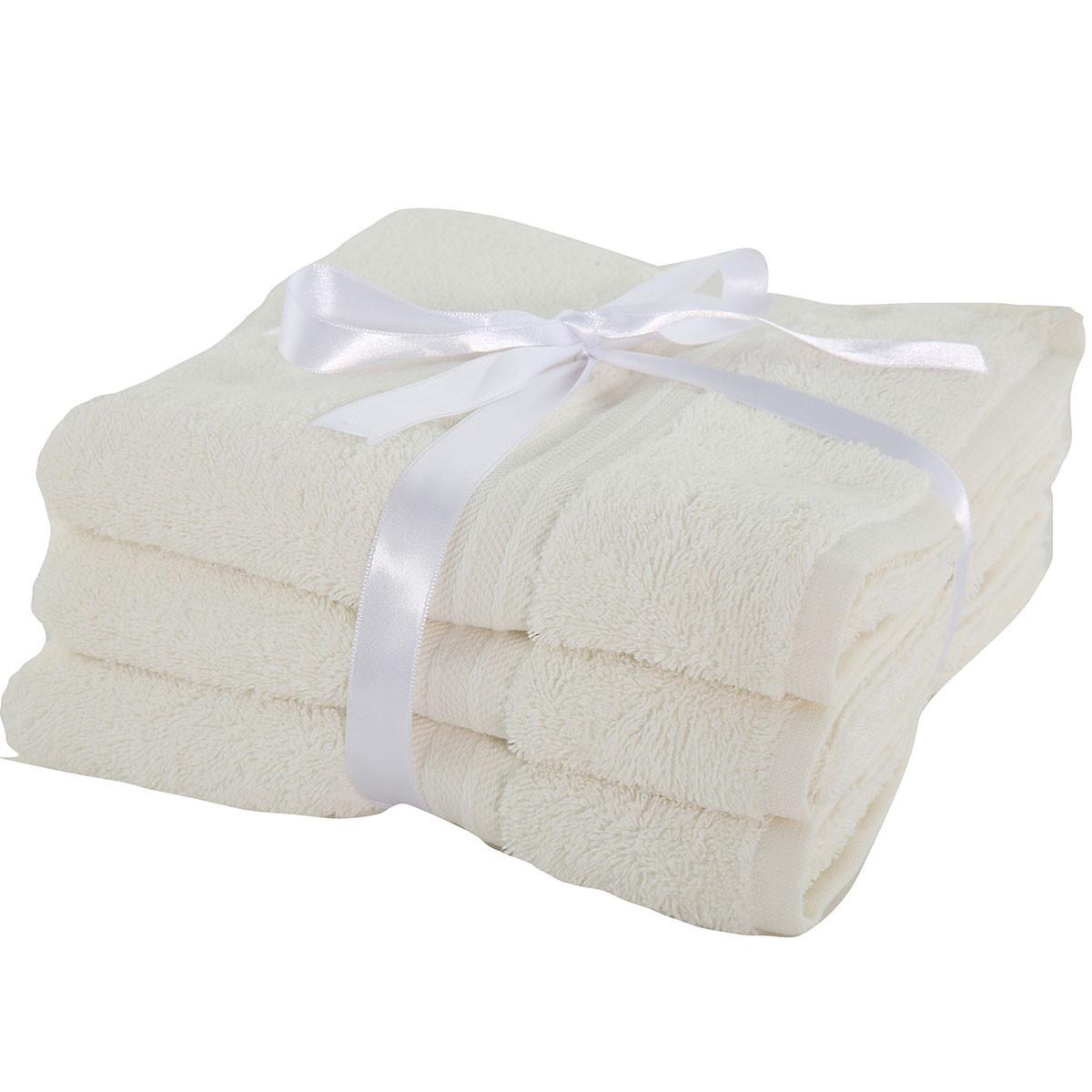 Πετσέτες Προσώπου (Σετ 3τμχ) Nef-Nef Cosy Cream