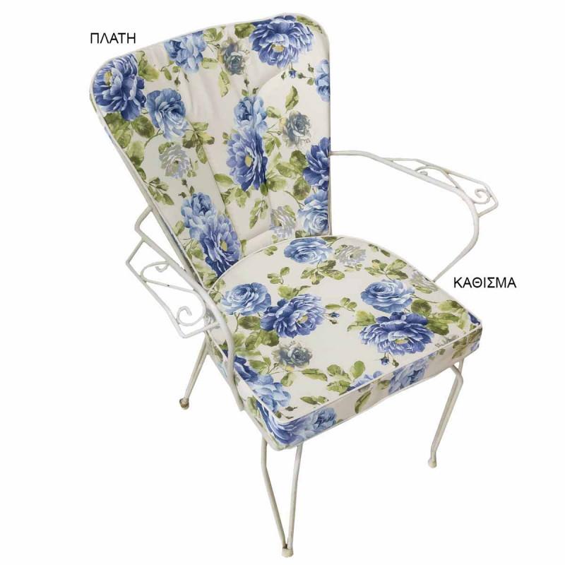 Μαξιλάρι Πλάτης Φερ Φορζέ Be Comfy Jardin Blue 810