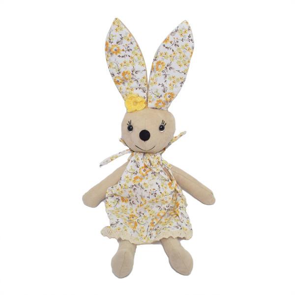 Μαλακό Παιχνίδι Cigit Rabbit Doll Beige Flower