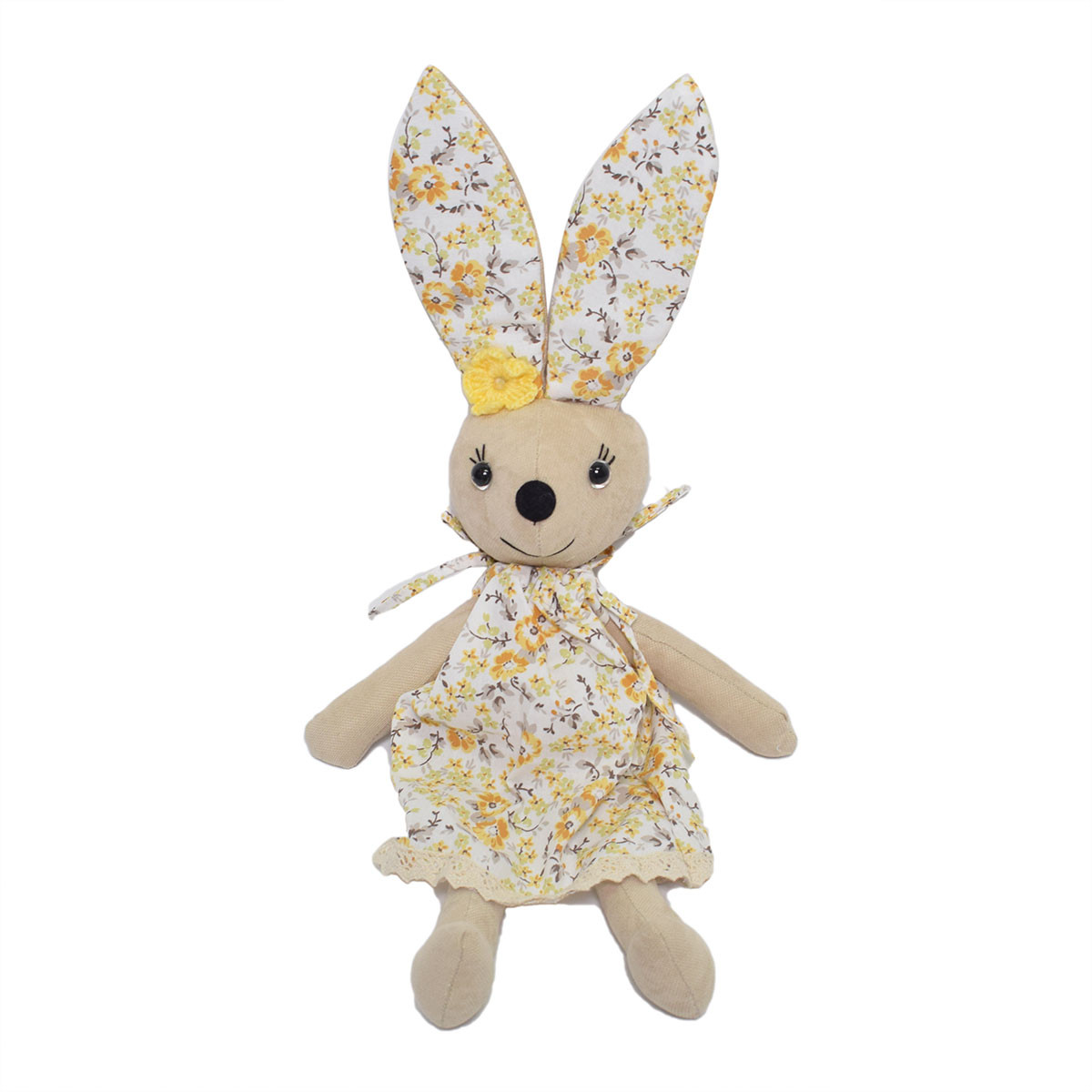 Μαλακό Παιχνίδι Cigit Rabbit Doll Beige Flower