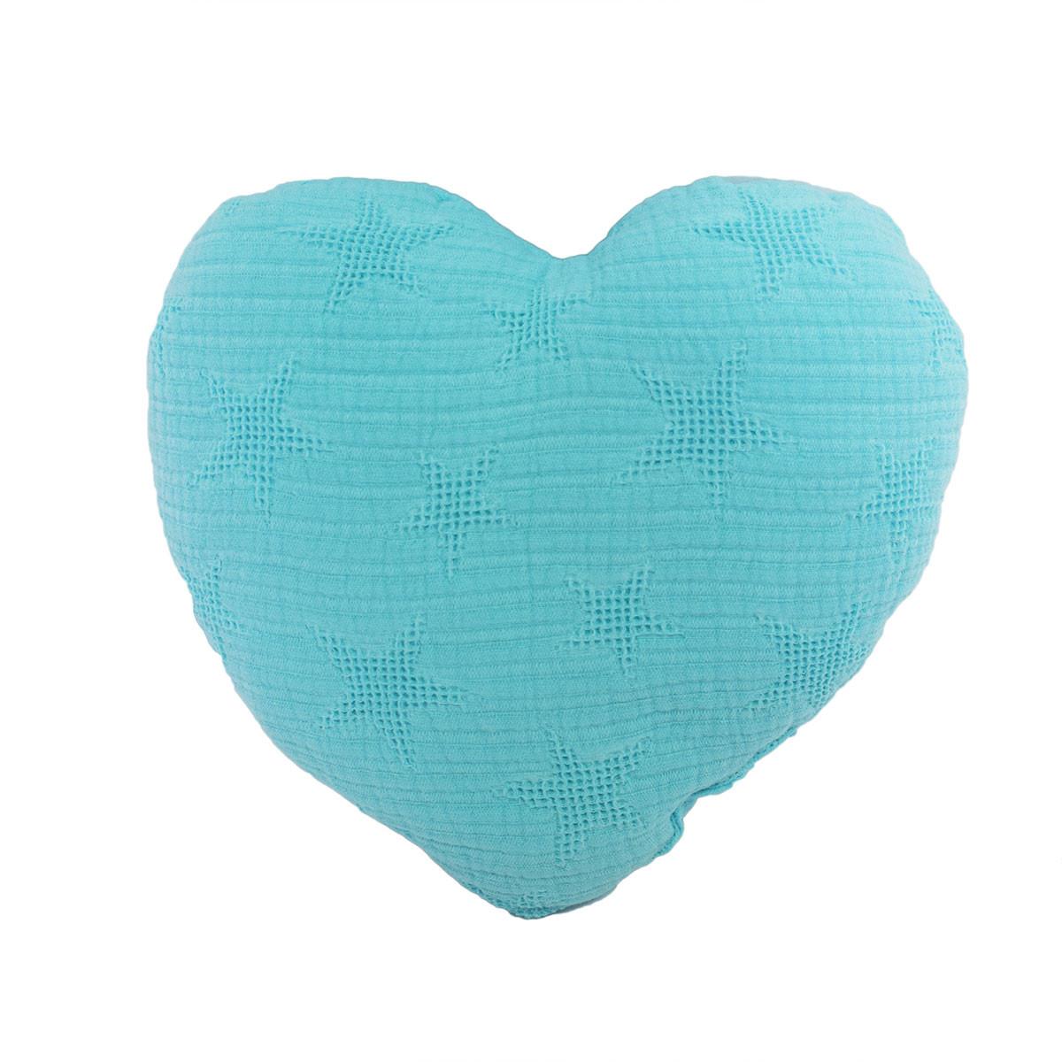 Διακοσμητικό Μαξιλάρι Cigit Heart Zakar Turquoise
