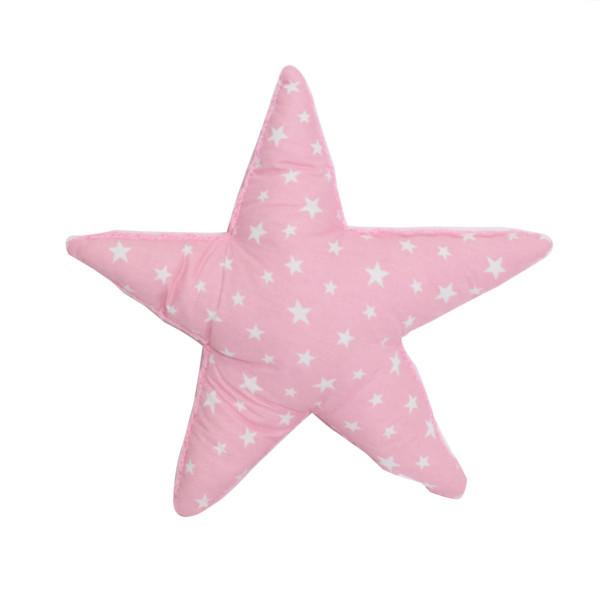 Διακοσμητικό Μαξιλάρι 2 Όψεων (35x35) Cigit Star Knitted Pink