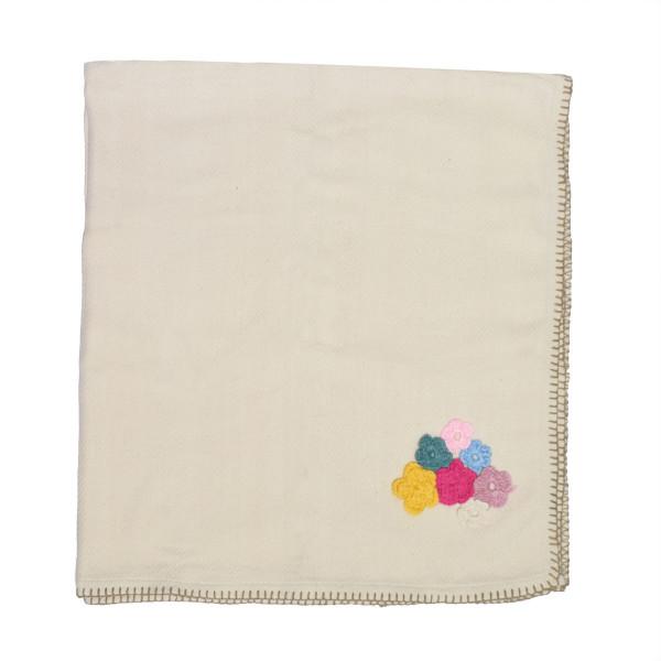 Κουβερτόριο Αγκαλιάς Cigit Flowered Off White
