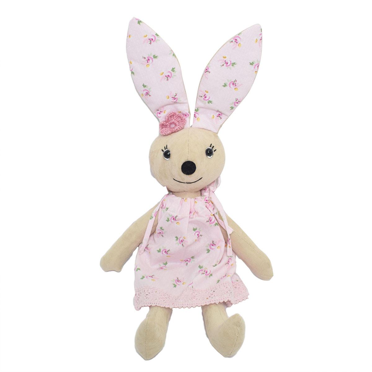 Μαλακό Παιχνίδι Cigit Rabbit Doll Pink Flower