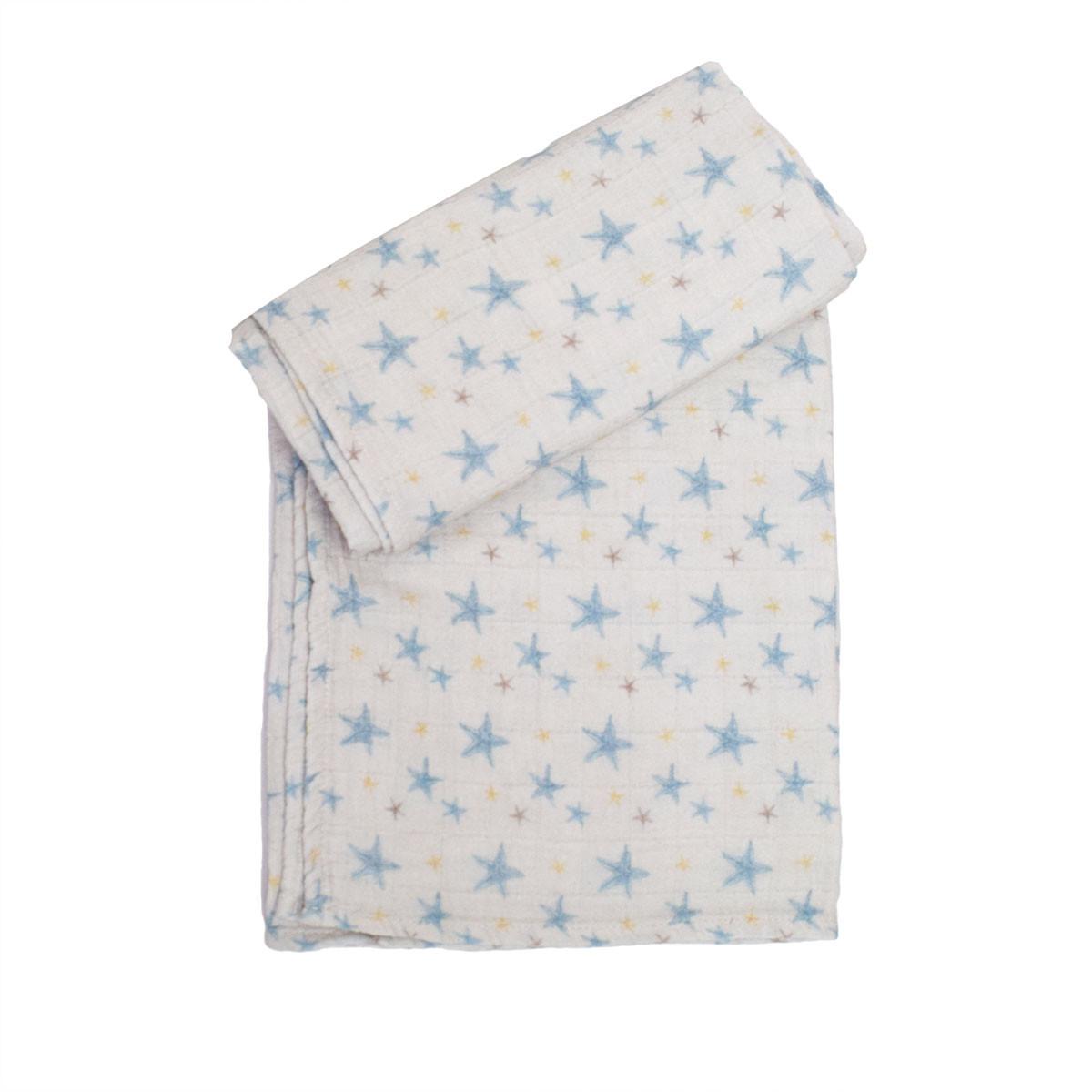 Κουβέρτα Μουσελίνα Αγκαλιάς Cigit Stars Blue