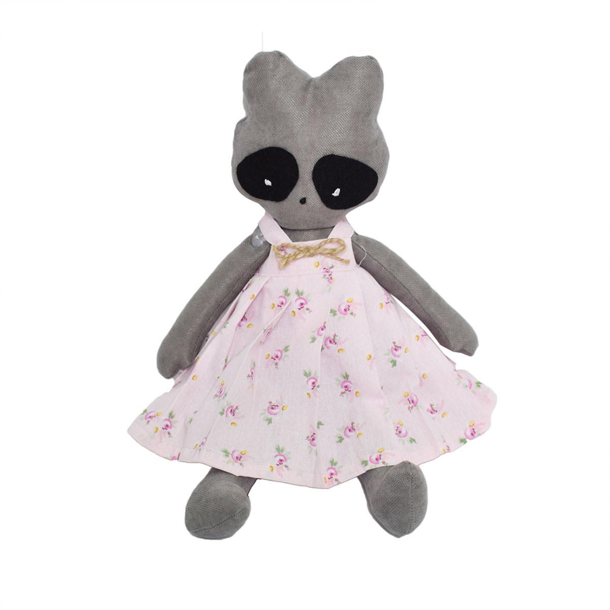 Μαλακό Παιχνίδι Cigit Raccoon Doll Pink