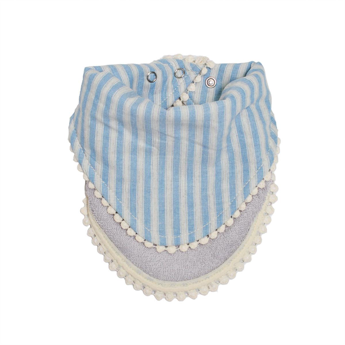 Σαλιάρα-Μπαντάνα 2 Όψεων Cigit Stripes Blue