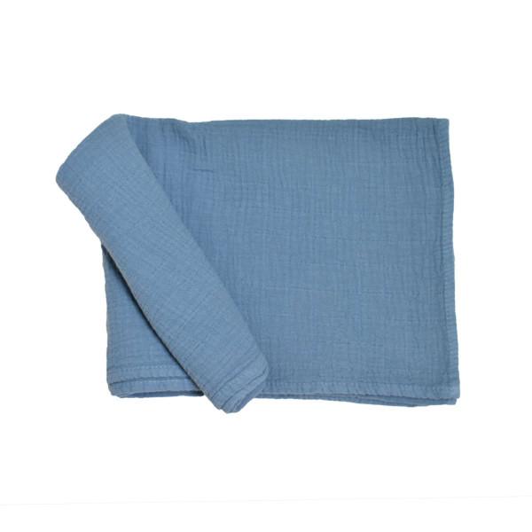 Κουβέρτα Μουσελίνα Αγκαλιάς Cigit Muslin Blue