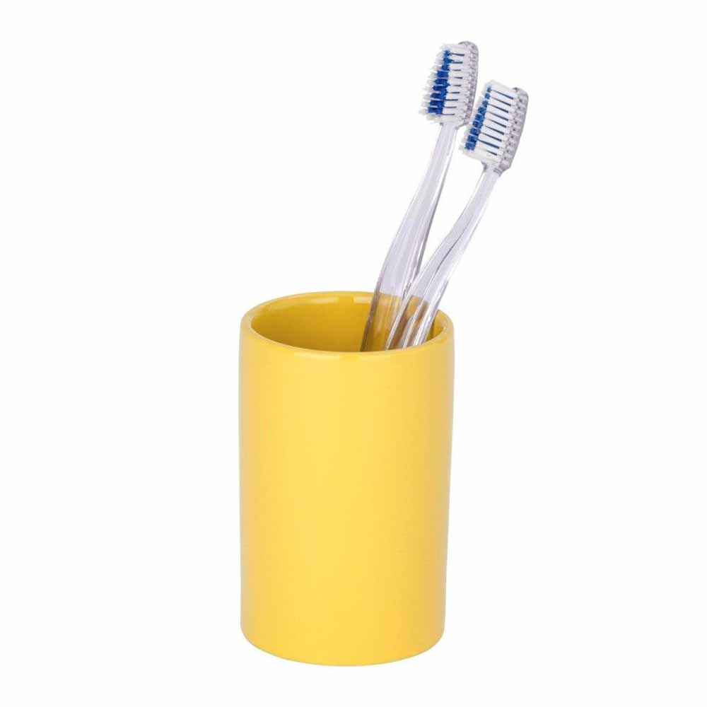 Ποτήρι Οδοντόβουρτσας Wenko Polaris Yellow 21659100