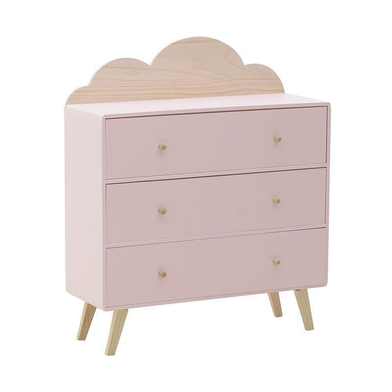 Παιδική Συρταριέρα InArt Σύννεφο Ροζ 3-50-876-0008