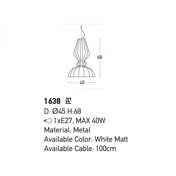 Φωτιστικό Οροφής Μονόφωτο Zambelis 1638 White Matt