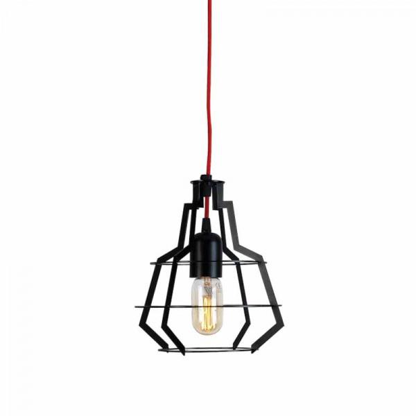 Φωτιστικό Οροφής Μονόφωτο Zambelis 1530 Black Matt