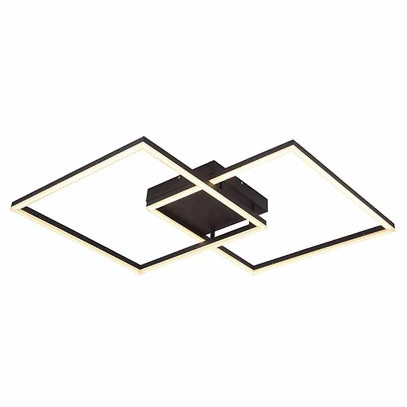 Φωτιστικό Πλαφονιέρα Led Zambelis 17006 Black Matt