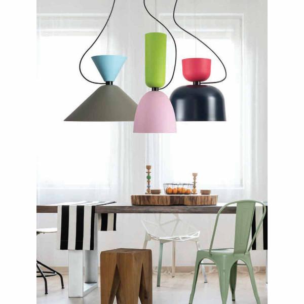 Φωτιστικό Οροφής Μονόφωτο Zambelis 17034 Pink/Green