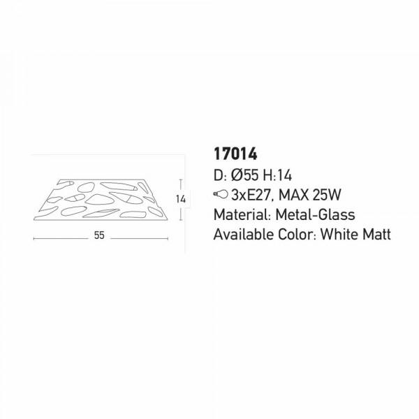 Φωτιστικό Πλαφονιέρα Zambelis 17014 White Matt