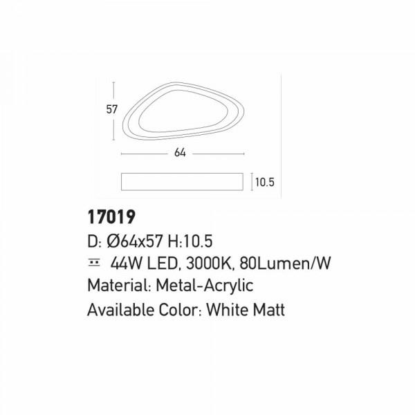 Φωτιστικό Πλαφονιέρα Led Zambelis 17019 White Matt