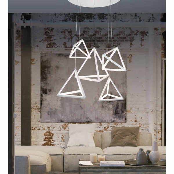 Φωτιστικό Οροφής Led Πολύφωτο Zambelis 180045 White Matt