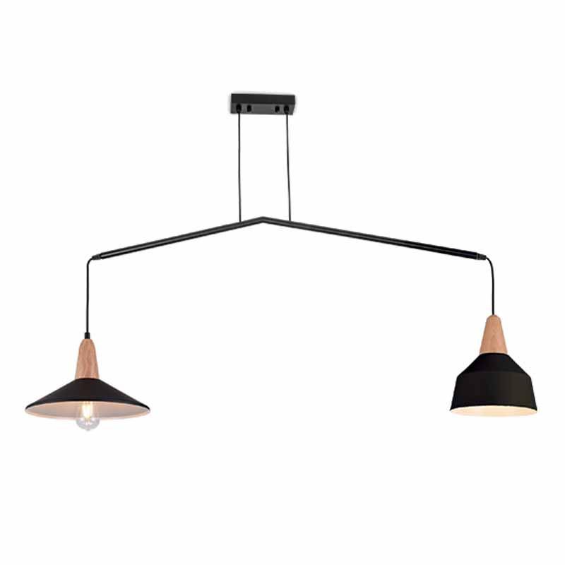 Φωτιστικό Οροφής Δίφωτο Zambelis 180084 Black Matt