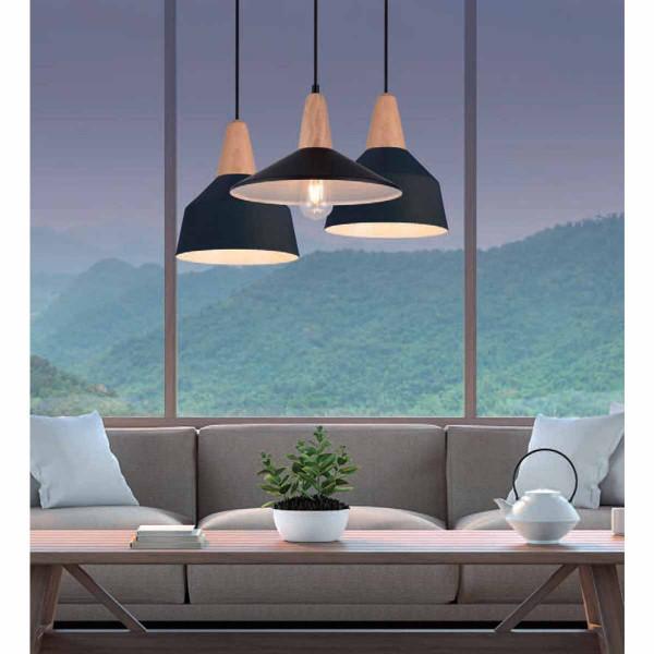Φωτιστικό Οροφής Τρίφωτο Zambelis 180087 Black Matt