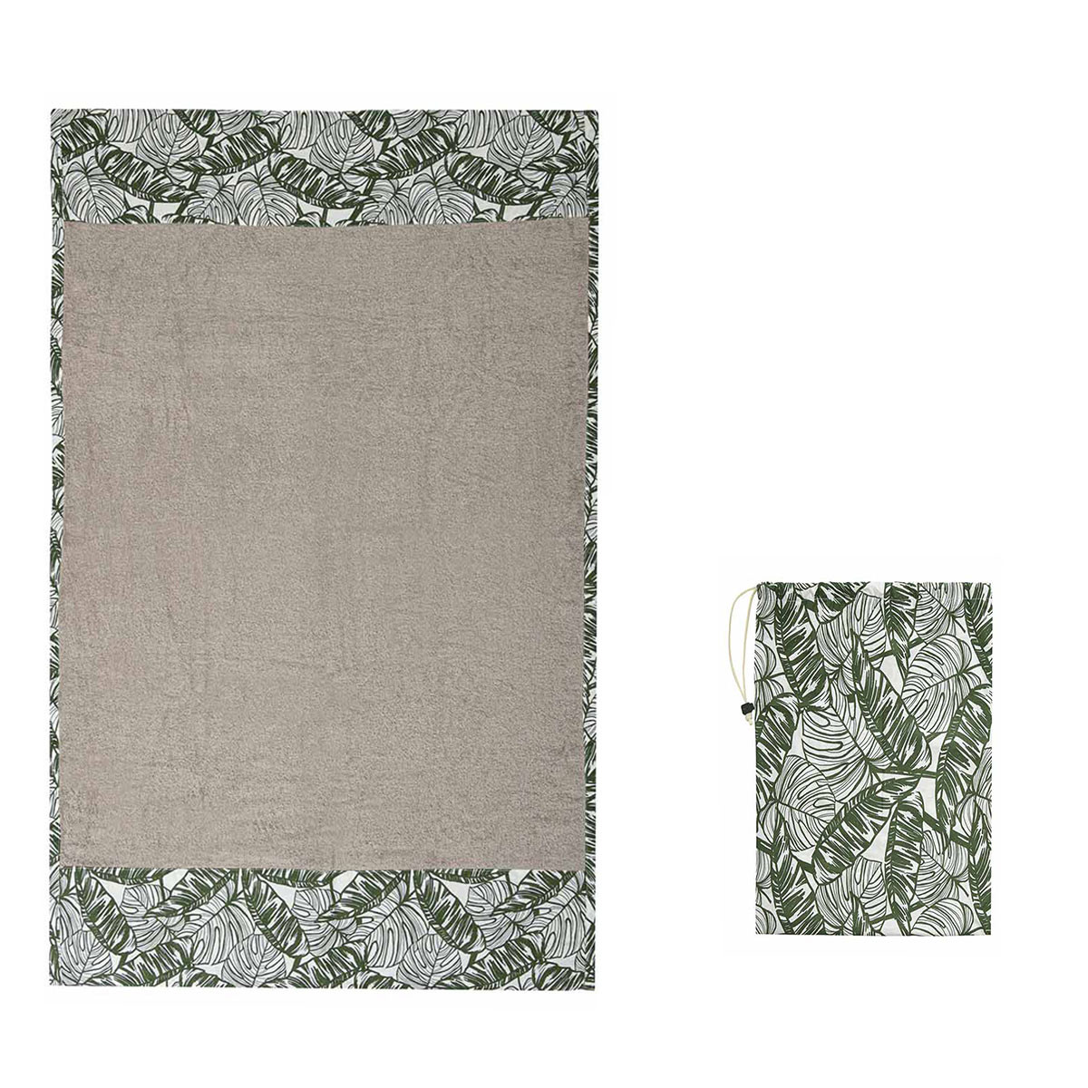Πετσέτα Θαλάσσης White Fabric Palm