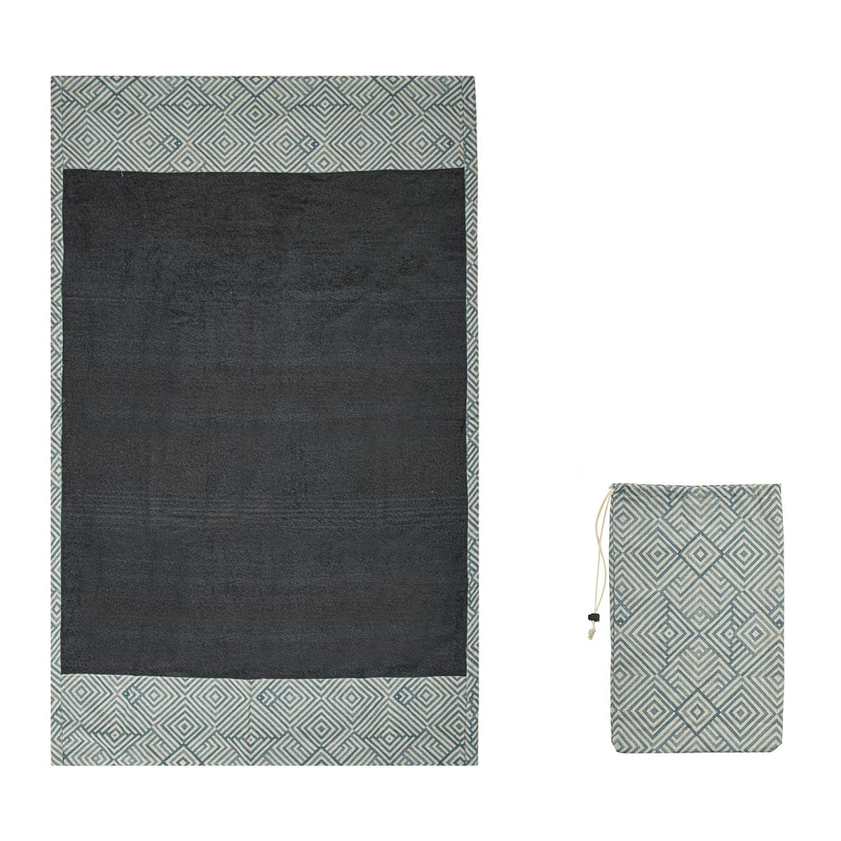 Πετσέτα Θαλάσσης White Fabric Geo Mint