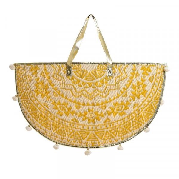 Τσάντα Θαλάσσης InArt Μισοφέγγαρο Κίτρινο 5-42-806-0055