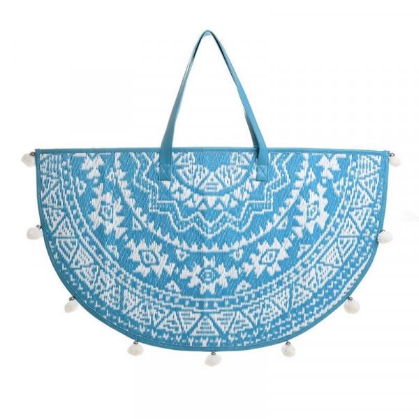 Τσάντα Θαλάσσης InArt Μισοφέγγαρο Τυρκουάζ 5-42-806-0056