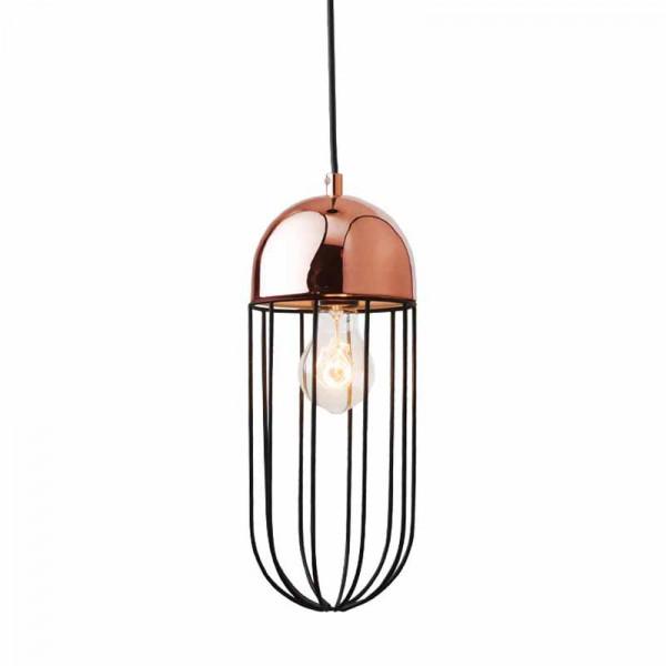 Φωτιστικό Οροφής Μονόφωτο Zambelis 1690 Copper