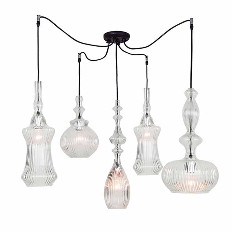 Φωτιστικό Οροφής Πολύφωτο Zambelis 17042 Clear
