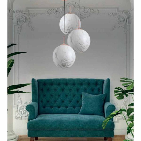 Φωτιστικό Οροφής Μονόφωτο Zambelis 18154 White Marble