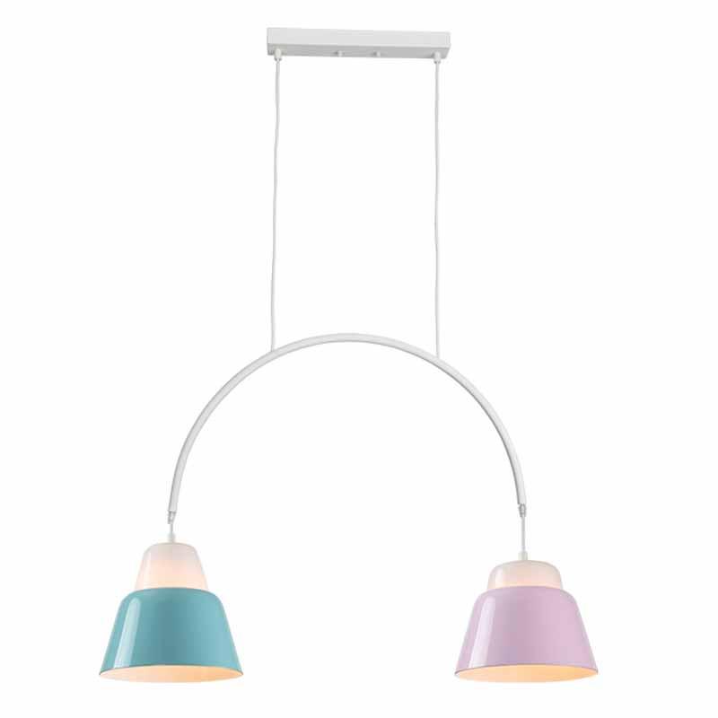 Φωτιστικό Οροφής Δίφωτο Zambelis 180063 Petrol/Pink