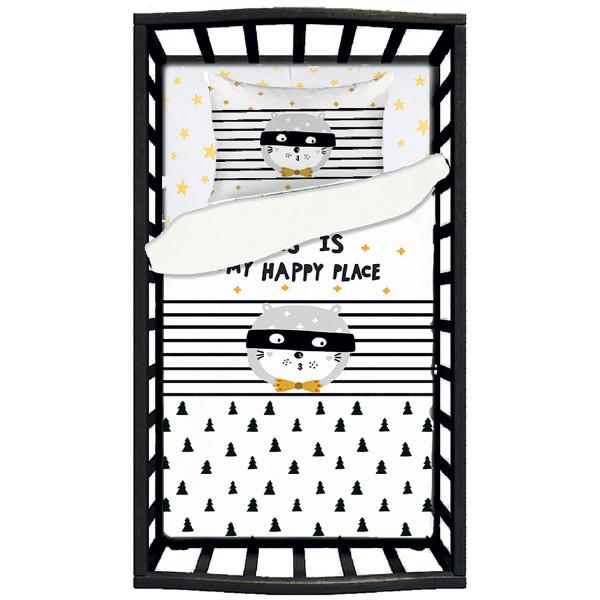 Σεντόνια Κούνιας (Σετ) Apolena Happy Place 5769/1