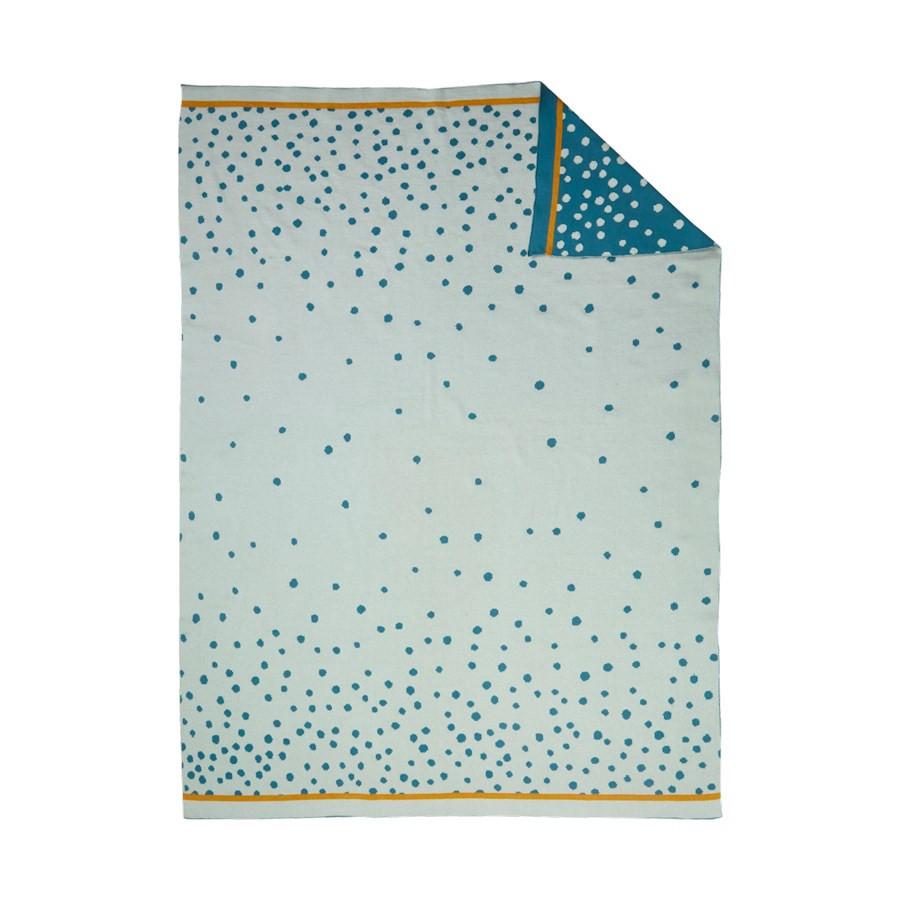 Κουβέρτα Πλεκτή Αγκαλιάς Done By Deer Happy Dots Blue BR72987